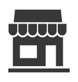 store black icon shop and retail symbol vector image vector image