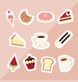 sweet dessert on pink background vector image vector image