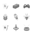 Toys set icons in monochrome style Big collection vector image vector image
