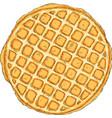 Traditional belgian waffle