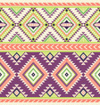tribal geometric seamless pattern vector image vector image