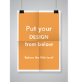 Twice a folded poster vector image