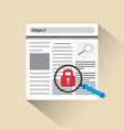 web security and protection concept lock icon web vector image