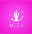 yoga logo emblem vector image vector image
