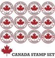 Canadian stamp set vector image