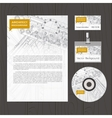 Set of corporate identity templates vector image