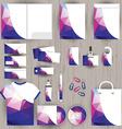 corporate identity triangle pattern design vector image