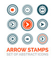 set of arrow stamps vector image