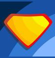 superhero logo yellow red shield emblem vector image