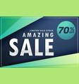 amazing sale banner discount voucher design vector image vector image