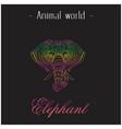 animal world elephant head of elephant thai design vector image vector image
