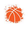 basketball blots symbol grunge frame vector image vector image