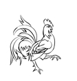 Black sketch drawing of an cock vector image vector image