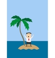 businessman marooned on a tropical island vector image vector image