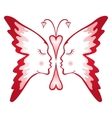 Butterfly of love vector | Price: 1 Credit (USD $1)