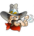 cartoon of an cowboy sheriff vector image vector image