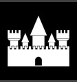 castle white color icon vector image vector image