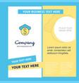 cloud dollar company brochure template busienss vector image vector image