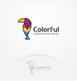 colorful bird logo vector image vector image