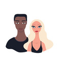 couple portrait happy young multi racial family vector image vector image