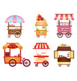 creative of street coffee cart vector image