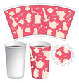 cup template vector image vector image