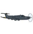 dark propeller aircraft