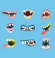 dracula or monster vampire cartoon mouth vector image