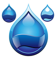 drop glass badge vector image vector image
