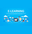 e-learning education online background with copy vector image vector image