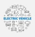 electric vehicle round in line vector image vector image