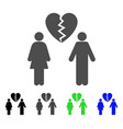 family divorce icon vector image vector image