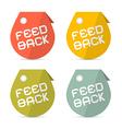 Feedback Retro Paper Icons Set vector image vector image
