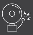 fire alarm line icon intruder alarm and security vector image vector image