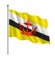 Flag of Brunei vector image