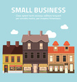 Flat design of small business concept House vector image vector image