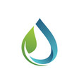 green water ecology logo vector image vector image