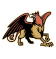griffin mythology creature mascot vector image vector image
