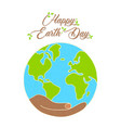 happy earth day concept for nature care vector image vector image