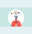 happy fathers day web template dad kid together vector image