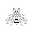 honey bee and logo design element vector image