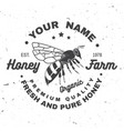 honey farm badge concept for shirt print vector image