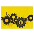 Human gear design vector image