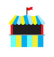 isolated carnival tent vector image