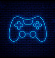 joystick icon neon sign design vector image vector image