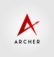 letter a archer arrow head logo design vector image vector image