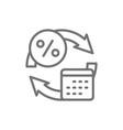 loan repayment calendar days line icon vector image