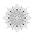 mandala tribal ethnic ornament art vector image