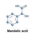 mandelic acid molecule vector image