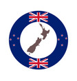 map new zealand on background with flag vector image vector image